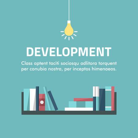 Flat design concept for development.