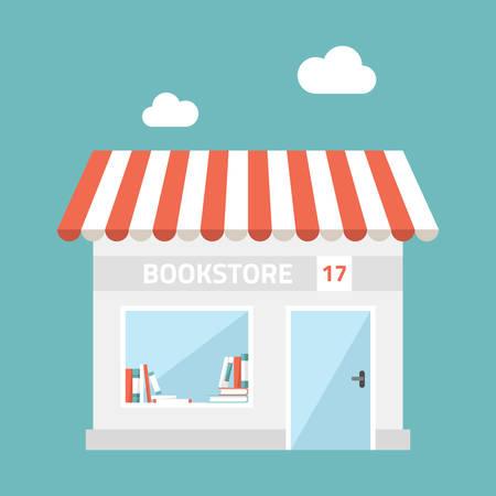 shop front: Flat design illustration of small business concept. Illustration