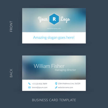 business trends: Vector modern creative and clean business card template. Flat design