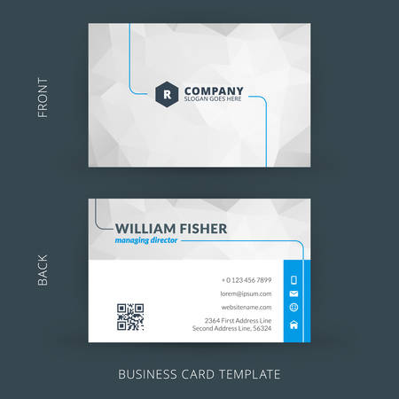 web layout: Vector modern creative and clean business card template. Flat design