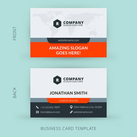 background color: Vector modern creative and clean business card template. Flat design