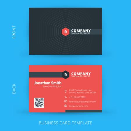 modern business: Vector modern creative and clean business card template. Flat design