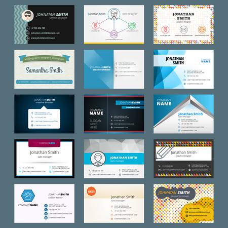 Vector conjunto de tarjetas de visita modernas creativas Foto de archivo - 36277638