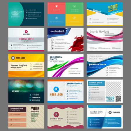 Vector set van moderne creatieve visitekaartjes