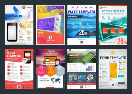 creativo: Conjunto de vector abstracta de folleto folleto negocio plantilla de diseño