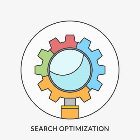 search optimization: Flat design concept for Search Optimization. Vector illustration for web banners and promotional materials