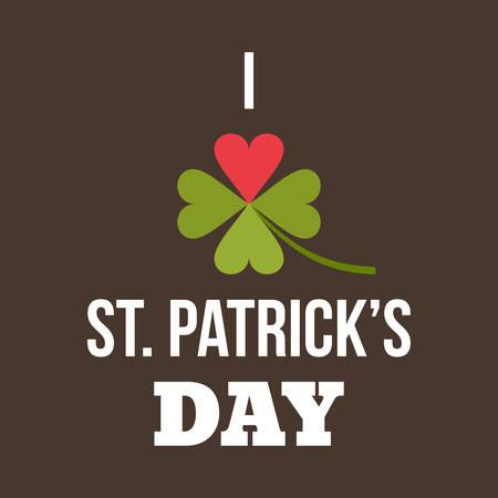 leafed: St. Patricks Day card design. Vintage holiday badge design