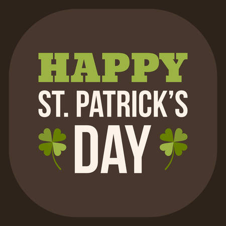 leafed: St. Patricks Day card design. Vintage holiday badge design