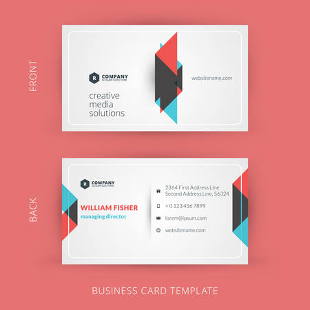 business: Vector modern creative and clean business card template. Flat design