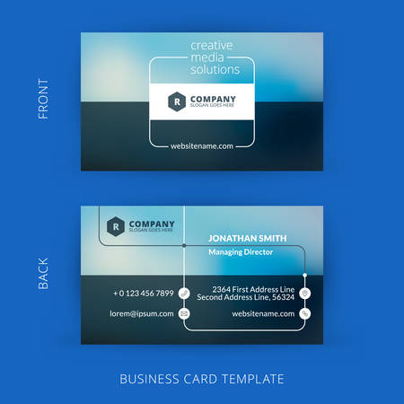 Vector modern creative and clean business card template. Flat design 版權商用圖片 - 37832492