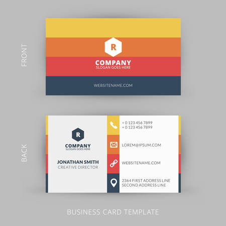 graphic designer: Vector modern creative and clean business card template. Flat design