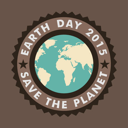 Vintage Typographic Design Poster for Earth Day Vector Illustration