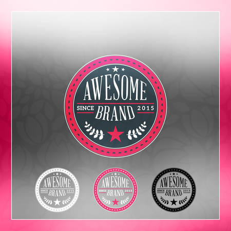 business sign: Retro Vintage Insignia, icon, Label or Badge. Business sign design template with color variations Illustration