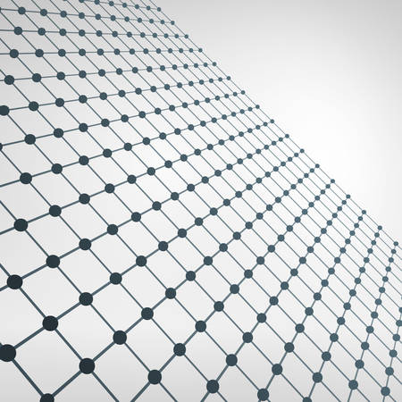 perspective grid: Wireframe Polygonal Element. 3D Perspective Grid with Thin Lines