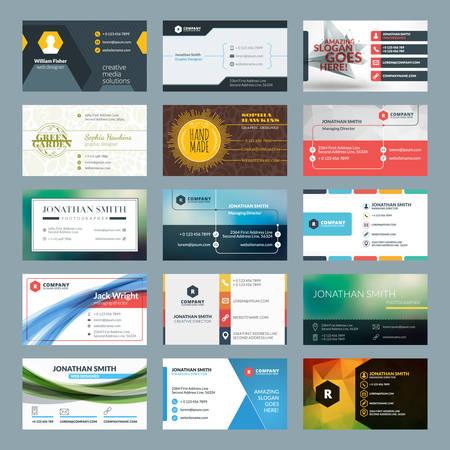 Vector set van de moderne creatieve visitekaartjes