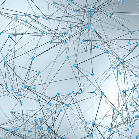 Wireframe Polygonal Element. Abstract Background with Diamonds Illustration