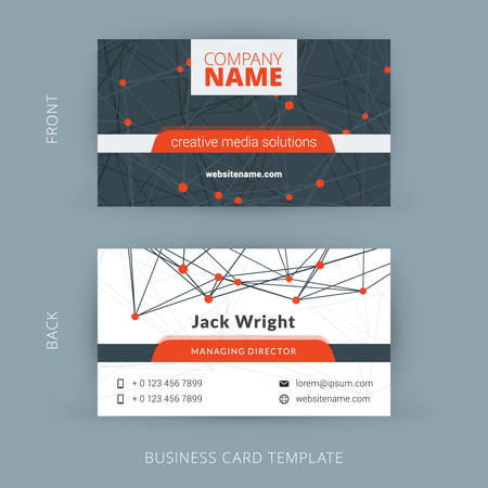 Creative and Clean Vector Business Card Template 版權商用圖片 - 40008328