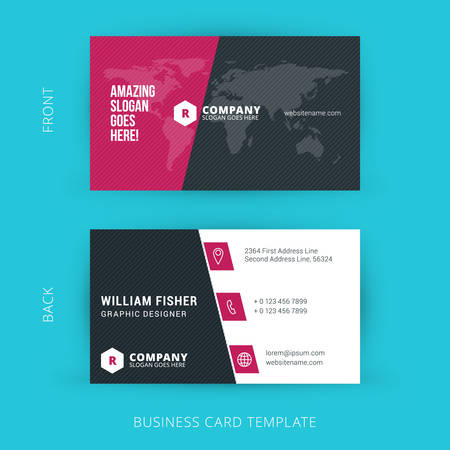 Creative and Clean Vector Business Card Template 版權商用圖片 - 40008771