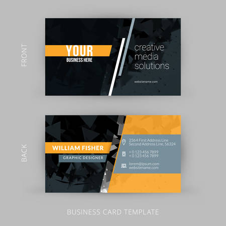 Creative and Clean Vector Business Card Template 版權商用圖片 - 40008772