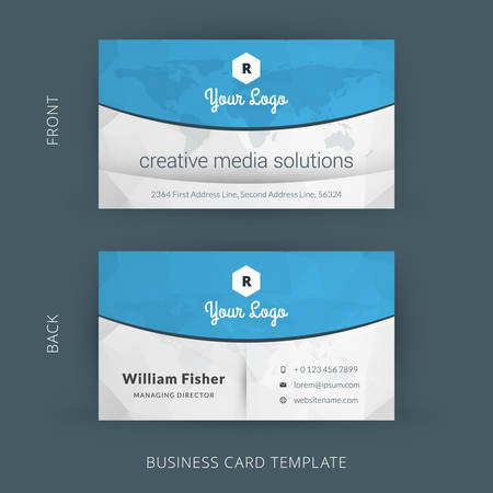 Creative and Clean Vector Business Card Template 版權商用圖片 - 40008773