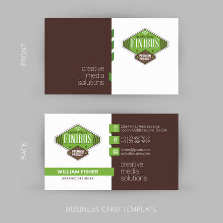 modern business: Creative and Clean Vector Business Card Template