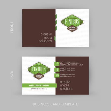 Kreative und saubere Vektor Visitenkarten Standard-Bild - 40008774