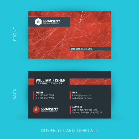 Creative and Clean Vector Business Card Template 版權商用圖片 - 40008783