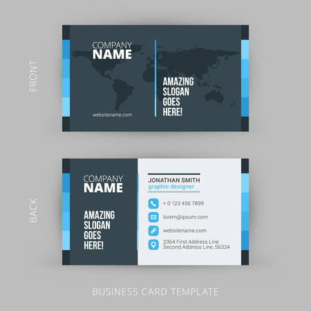 business people: Creative and Clean Vector Business Card Template