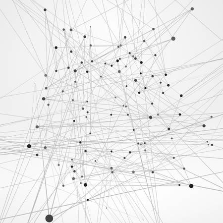 ワイヤ フレーム多角形要素。細い線で抽象的な 3 D オブジェクト