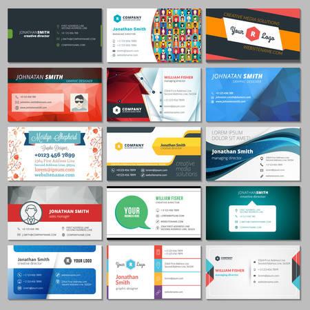Set of Modern Creative Business Card Templates Иллюстрация