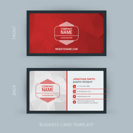 Vector Modern Creative and Clean Business Card Template. Flat Design 版權商用圖片 - 40798999
