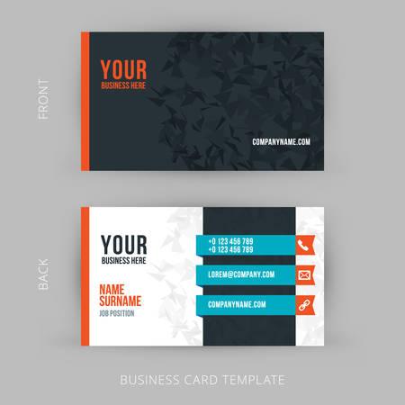business card design: Vector Modern Creative and Clean Business Card Template. Flat Design
