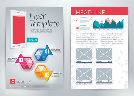 Vector abstract business flyer or poster template with infographics Vector