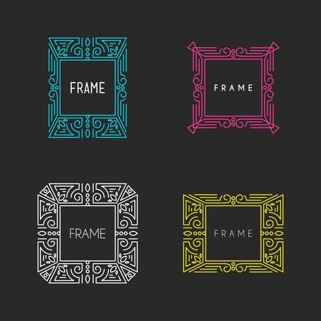 logotypes: Set of Hipster Vintage Labels, Logotypes, Insignias, Badges