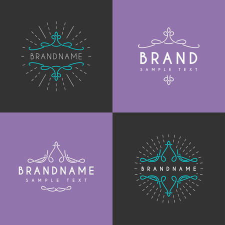 logotypes: Set of Vector Vintage Labels, Logotypes, Insignias, Badges for Your Business