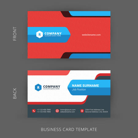 design elements: Vector Modern Creative and Clean Business Card Template. Flat Design
