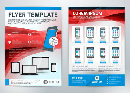 product purchase: Vector Business Flyer Template for Business Purpose Illustration