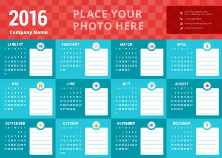 calendario julio: Plantilla de dise�o. Calendario 2016