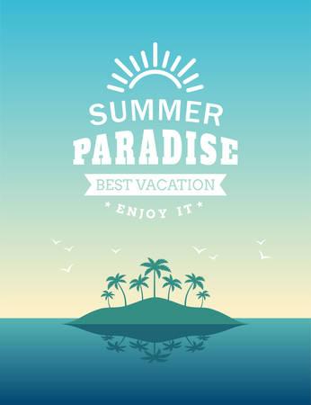 Retro Summer Holidays Vintage Label Иллюстрация