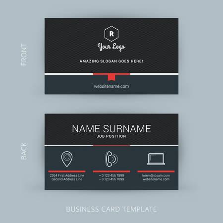 ベクトル現代創造的なビジネス カード テンプレート