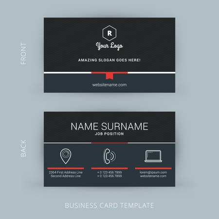 background card: Vector Modern Creative and Clean Business Card Template Illustration
