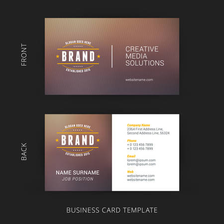 Vector Modern Creative and Clean Business Card Template 版權商用圖片 - 41896890