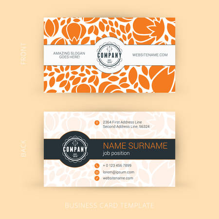 Vector Modern Creative and Clean Business Card Template Ilustração