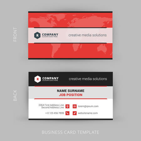 Vector Modern Creative and Clean Business Card Template 矢量图像