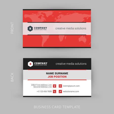 Vector Modern Creative and Clean Business Card Template Иллюстрация