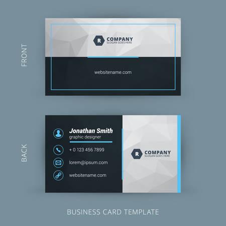 Vector creativo moderno y limpio tarjeta de negocio Foto de archivo - 41897263