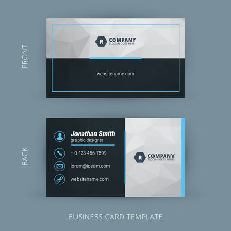 Vector Modern Creative and Clean Business Card Template Çizim