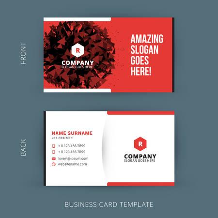Vector creativo moderno y limpio tarjeta de negocio Foto de archivo - 41897271