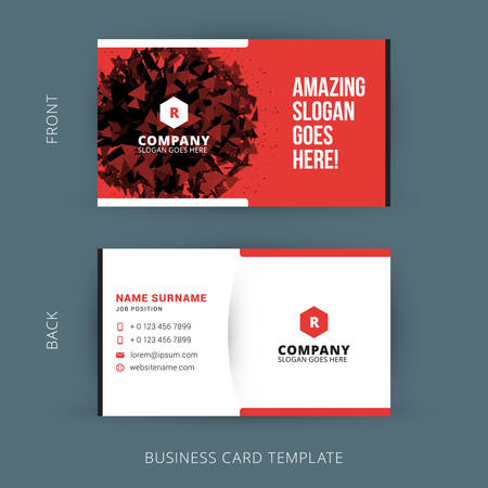 business card layout: Vector Modern Creative and Clean Business Card Template Illustration