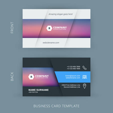 Vector Modern Creative And Clean Business Card Template Vector  Line Card Template